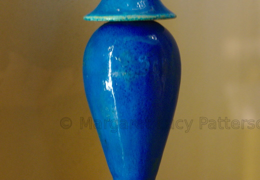Faience Hes Vase with Cover