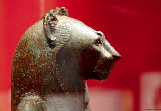Seated Statue of Wadjet as a Lion Headed Woman