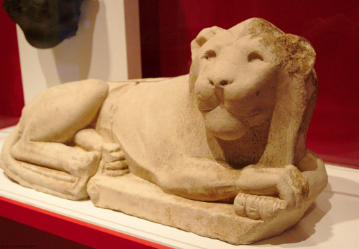 Statue of a Recumbent Lion