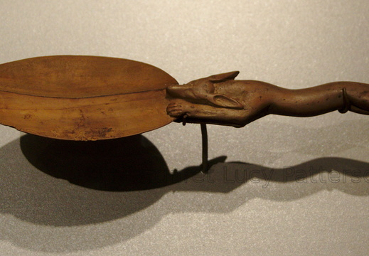 Wooden Spoon with a Jackal Handle