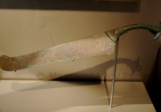 Ceremonial Saw in the Shape of a Ma'at Feather
