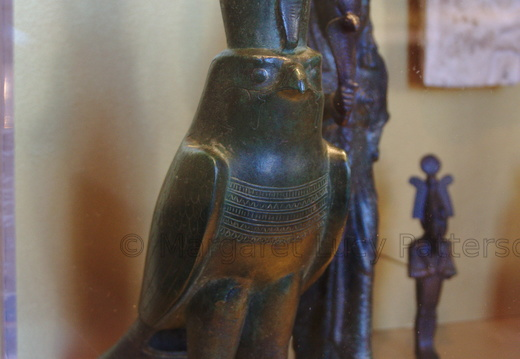 Horus Falcon Wearing the Double Crown