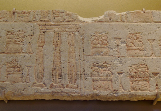Relief Showing Temple Courtyard with Incense Burners and Offering Tables