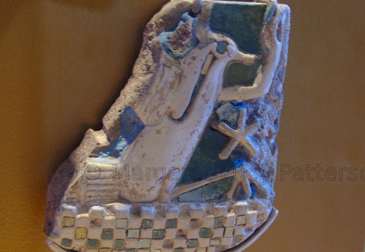 Faience Tile with Lapwing Motif