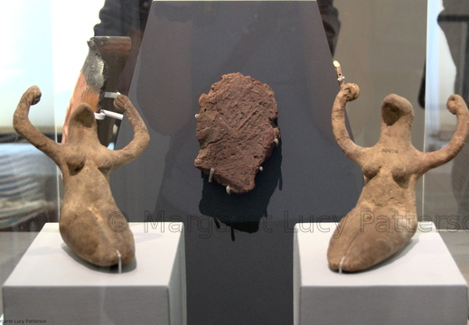 Two Female Figurines and a Clay Seal with the Name of Neithhotep in a Serekh